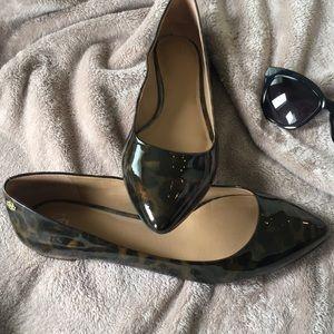 Ann Taylor Leopard Patent Leather Flats